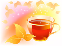 Autumn tea Stock Photography