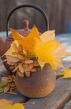 Autumn tea - Royalty Free Stock Photo