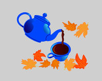 Autumn Tea Lizenzfreies Stockfoto