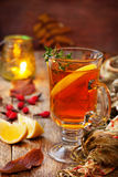 Autumn tea with ginger, lemon Royalty Free Stock Image