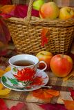 Autumn Tea Party Lizenzfreie Stockfotografie