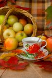 Autumn Tea Party Lizenzfreie Stockbilder