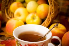 Autumn Tea Party Stockfoto