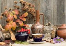 Autumn Tea Party Arkivbild