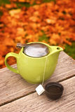 Autumn Tea Pot Royalty Free Stock Photo