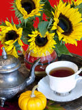 Autumn Tea Service Royalty Free Stock Photo