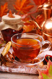 Autumn tea with spices and honey Royalty Free Stock Image