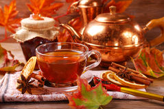 Autumn tea with spices and honey Royalty Free Stock Photo