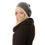 Autumn teen woman Stock Photos