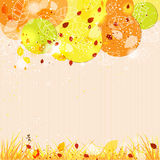 Autumn template background with abstract tree. For design cards, invitations and books. There is a place for your text Royalty Free Stock Photos