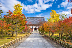 Autumn Temple in Kyoto Stock Images