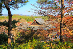 Autumn at Tenryu-ji Temple(the head temple of the Tenryu branch of Rinzai Zen Buddhism). Located in Susukinobaba-cho, Ukyo Ward, Kyoto, Japan Stock Photography
