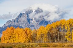 Autumn in the Tetons Royalty Free Stock Photo