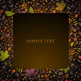 Autumn text panel Stock Photography
