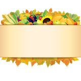Autumn Thanksgiving Background. Vektor EPS 10 Royaltyfria Bilder