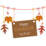 Autumn Thanksgiving Banner Foliage Line Royalty Free Stock Photography