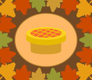 Autumn Thanksgiving  Day  background with pie Royalty Free Stock Image