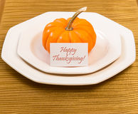 Autumn Thanksgiving dinner table setting Stock Images