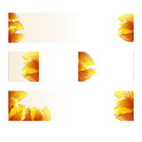 Autumn theme banners Stock Photo