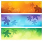 Autumn theme banners 1 Stock Image