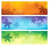 Autumn theme banners 1. Eps10 vector illustration Stock Image