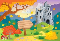 Autumn theme with castle ruins 2 Stock Image