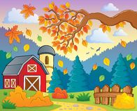 Autumn theme landscape 1. Eps10 vector illustration Royalty Free Stock Photography