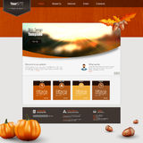 Autumn Theme Website template Royalty Free Stock Photos