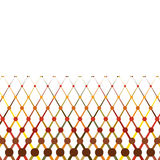 Autumn themed abstract lines border. Design royalty free illustration