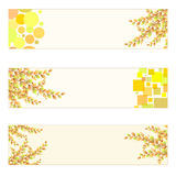 Autumn themed Banners Stock Images