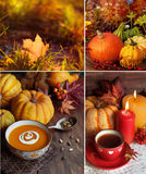 Autumn themed collage Royalty Free Stock Images
