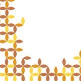 Autumn themed geometric shapes background Stock Photo