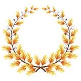 Autumn themed leaves frame Stock Photos