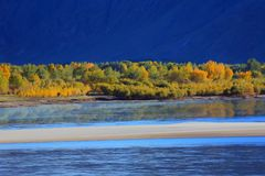 Autumn in Tibet Stock Photo