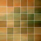Autumn tiles. Seamless mosaic in autumn colors Royalty Free Stock Images