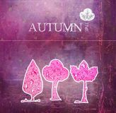 Autumn time - art background Stock Photos