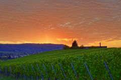 Autumn Time - erstaunlicher Sonnenuntergang Stockfoto