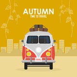 Autumn time family travel and trip Royalty Free Stock Image