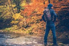 Autumn Time Forest Hike royalty-vrije stock afbeeldingen
