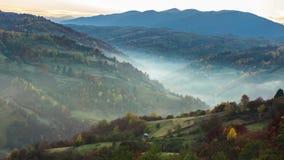 Autumnal sunrise time lapse. Autumn time lapse in Carpatian mountains, timelapse, photographed on Nikon D800 camera stock video
