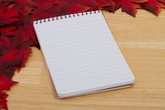 Autumn Time List of things to do Stock Photo