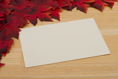 Autumn Time Message Royalty Free Stock Photo