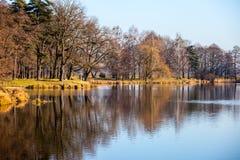 Autumn time in Park Swierklaniec, Poland. Stock Images