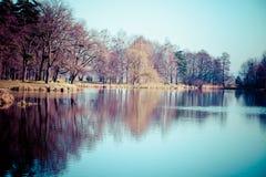 Autumn time in Park Swierklaniec, Poland. Royalty Free Stock Image