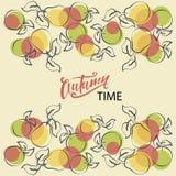 Autumn Time Poires et pommes illustration de vecteur