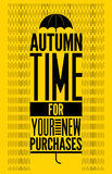 Autumn time retro poster. Vector typographical design for autumn sales. Autumn time retro poster. Vector typographical design Stock Photography