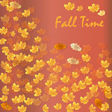 Autumn time seasonal banner. Vector illustration Stock Images