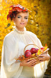 AUTUMN TIME. A shoting who have as theme autumn, a beautiful atmosphere with beautiful light, fruits , leaves stock image