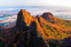 Autumn to Rafah Hill_Jilin_scenery Stock Photography