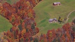 Autumn in the Toggenburg valley, Switzerland. stock photos